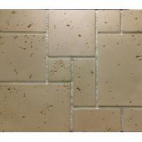"Декоративно-облицовочный камень "" Травертин "" TR-22/R 190х190 (0,64 М2) плоскостной, фото 1"