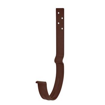 Крюк крепления желоба длинный RAL8017 коричневый, фото 1