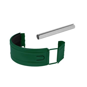 Соединитель желоба RAL6005 зеленый, фото 1