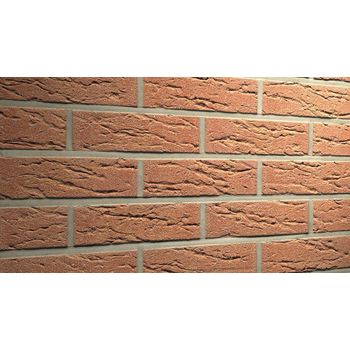Клинкерная плитка Feldhaus Klinker R214NF9 Bronze mana Красная Рельефная, фото 1