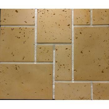 "Декоративно-облицовочный камень "" Травертин "" TR-30/R 190х190 (0,64 М2) плоскостной, фото 1"