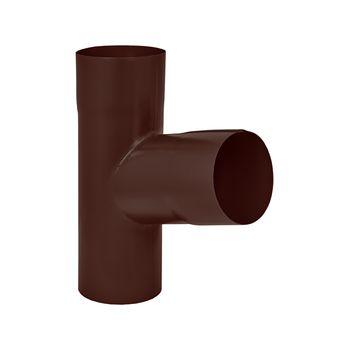 Тройник трубы RAL8017 коричневый, фото 1