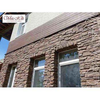 Искусственный камень для вентилируемых фасадов Уайт Клиффс F152-90-0,35 плоскостной, фото 3